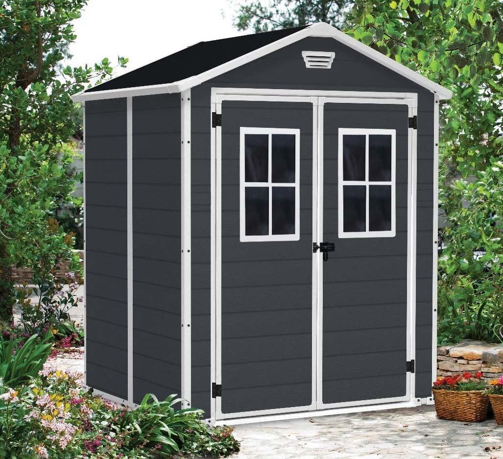 keter manor 6x5 garden shed landera outdoor. Black Bedroom Furniture Sets. Home Design Ideas