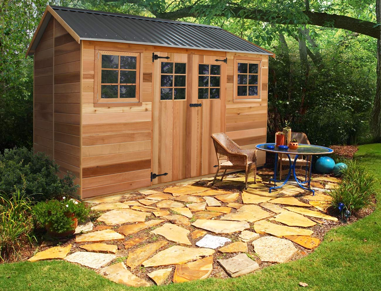 Cedar Shed Maple 12x6ft 3 6mx1 9m 2 825 00 Landera
