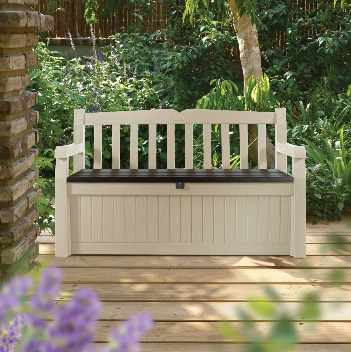 keter eden garden bench oede1 landera outdoor storage and furniture. Black Bedroom Furniture Sets. Home Design Ideas