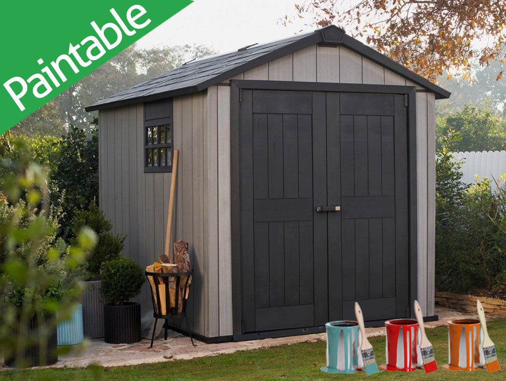 Resin sheds decorative large outdoor storage sheds for Resin garden shed