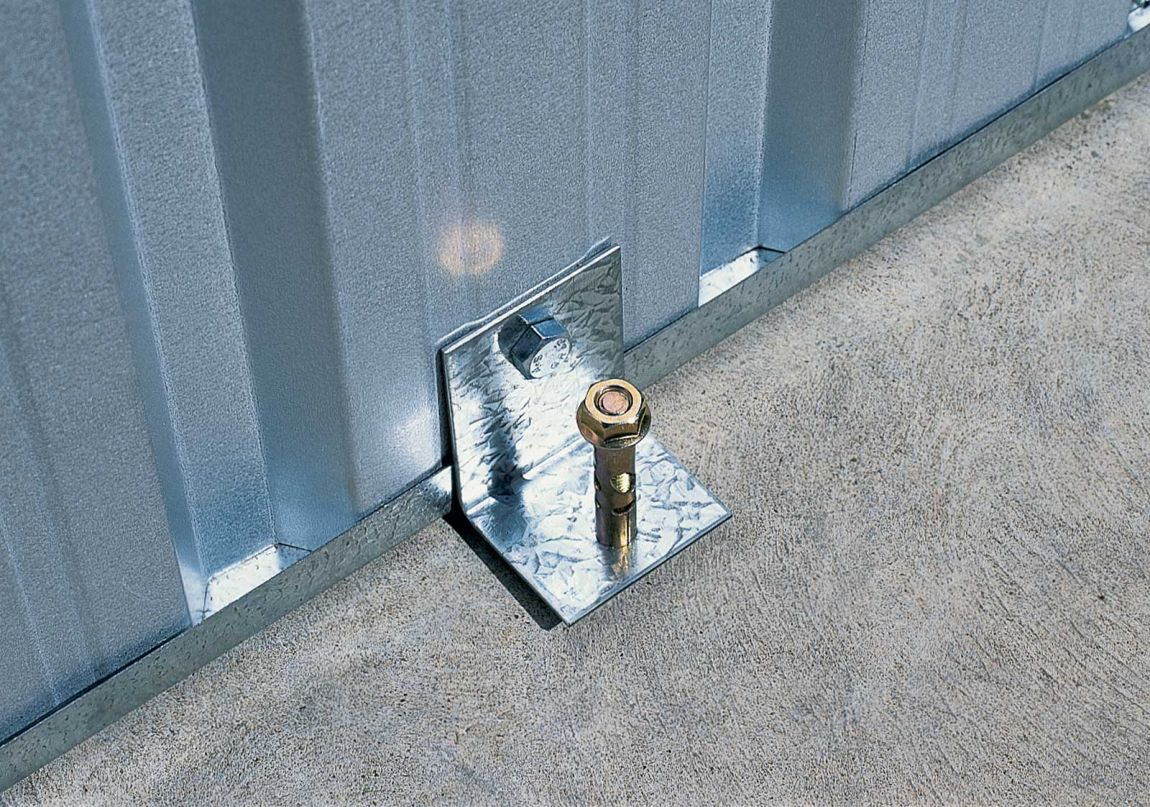 Auger Anchors For Carports : Learn to build shed here storage kit brackets