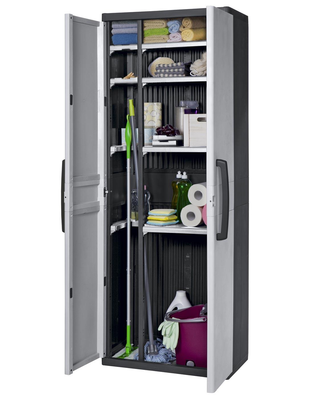 keter space master cabinet 4 wonder shelves. Black Bedroom Furniture Sets. Home Design Ideas