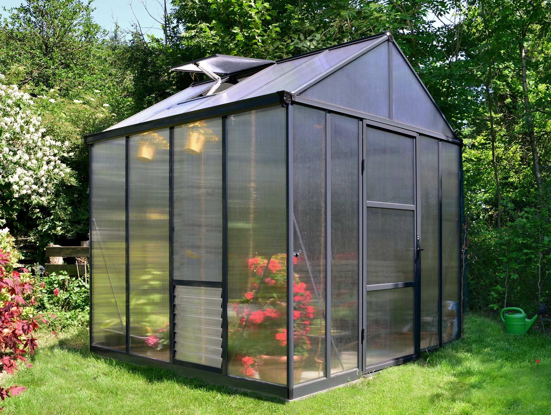 Greenhouse Aluminium PolyCarbonate Frame No Clips FREE Rainwater Kit UV Protects