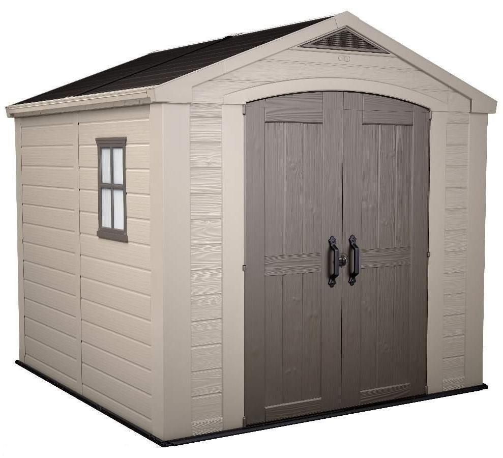 Keter factor 8 39 x8 39 shed - Caseta jardin resina ...