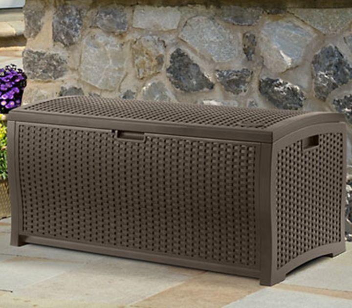 Suncast Resin Wicker Deck Box Dbw9200